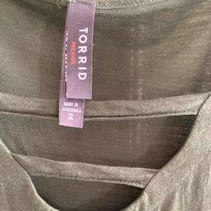 Torrid Premium Army Green s/s Tee 2x